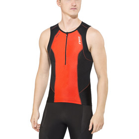 2XU Perform Tri Singlet Herren desert red print/black